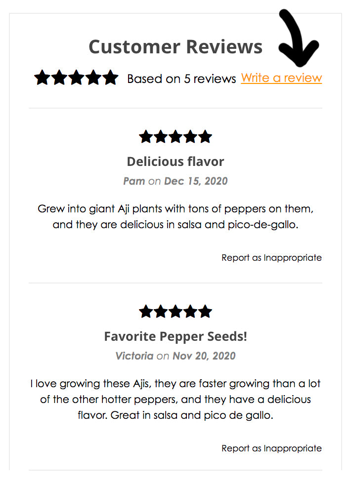 FREE SEEDS - WRITE A SEED REVIEW TO ENTER TO WIN
