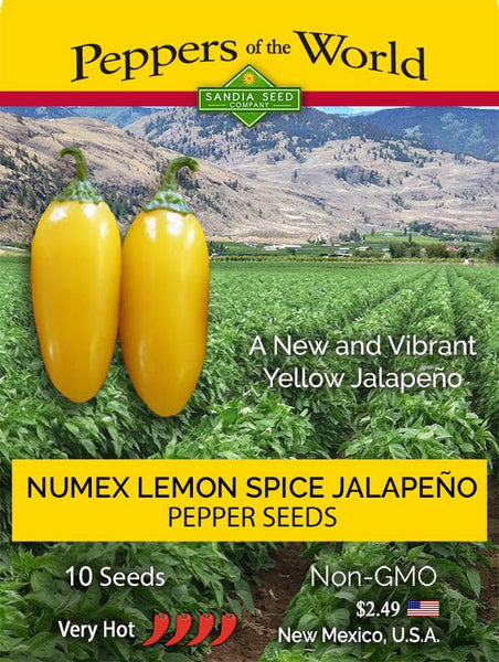 Yellow Jalapeno Seeds Packet