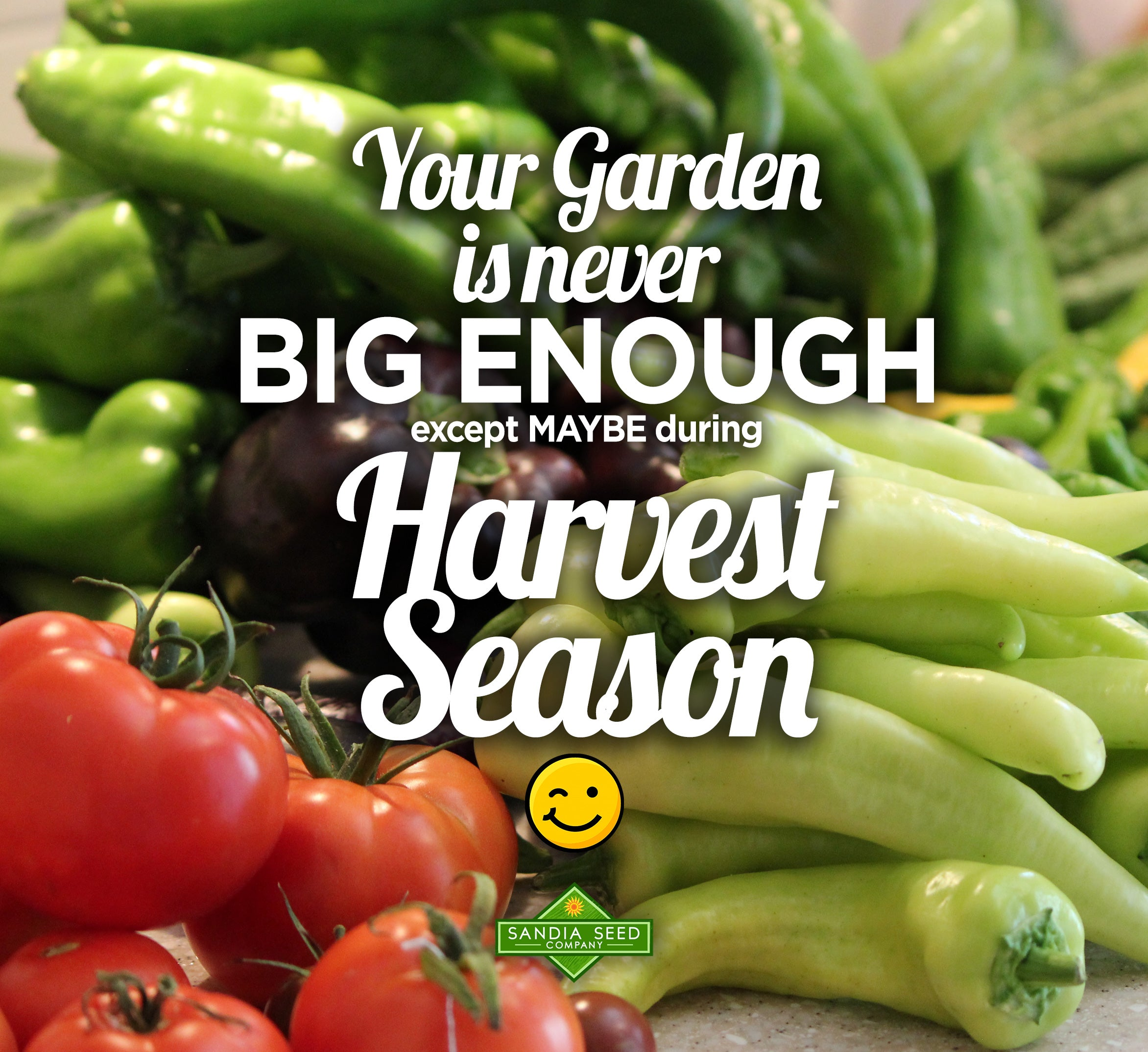 Garden Memes: Your Garden is never  big enough except MAYBE during Harvest Season