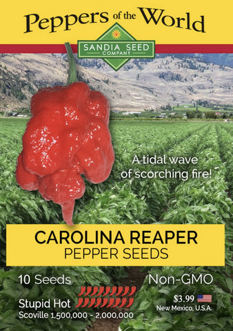 Hottest pepper in the World - Carolina Reaper - Dragon's Breath Pepper Seeds
