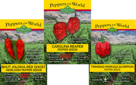 Bhut Jolokia - Ghost Pepper Seeds