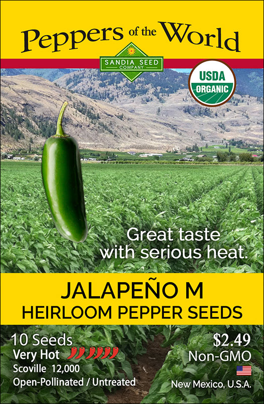 Jalapeño M Pepper Seeds ORG