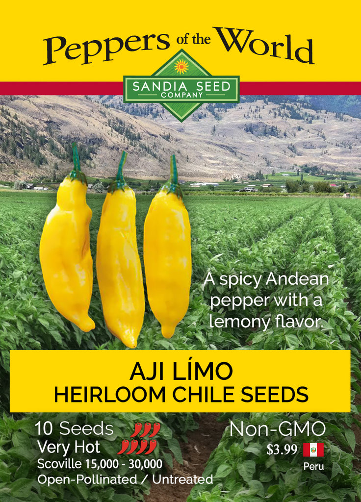 Aji Limo / Lemon Drop Pepper Seeds - Sandia Seed Company