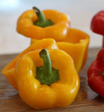 Bell Golden Cal Wonder Sweet Pepper Seeds ORG - Sandia Seed Company