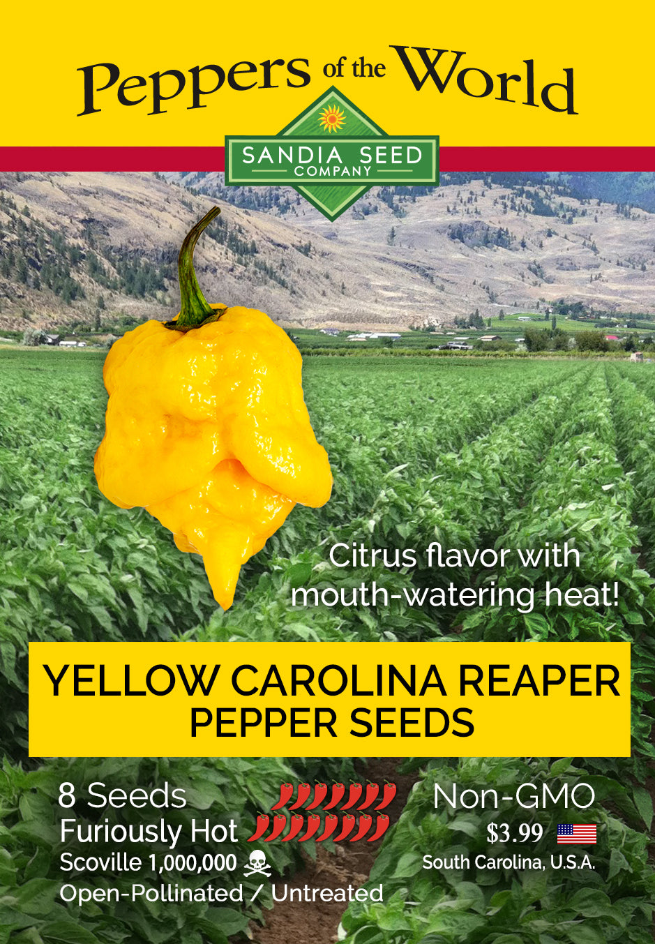 Fastest Growing Hot Peppers: Yellow Carolina Reaper