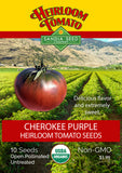 Tomato - Cherokee Purple Heirloom Seeds ORG - Sandia Seed Company
