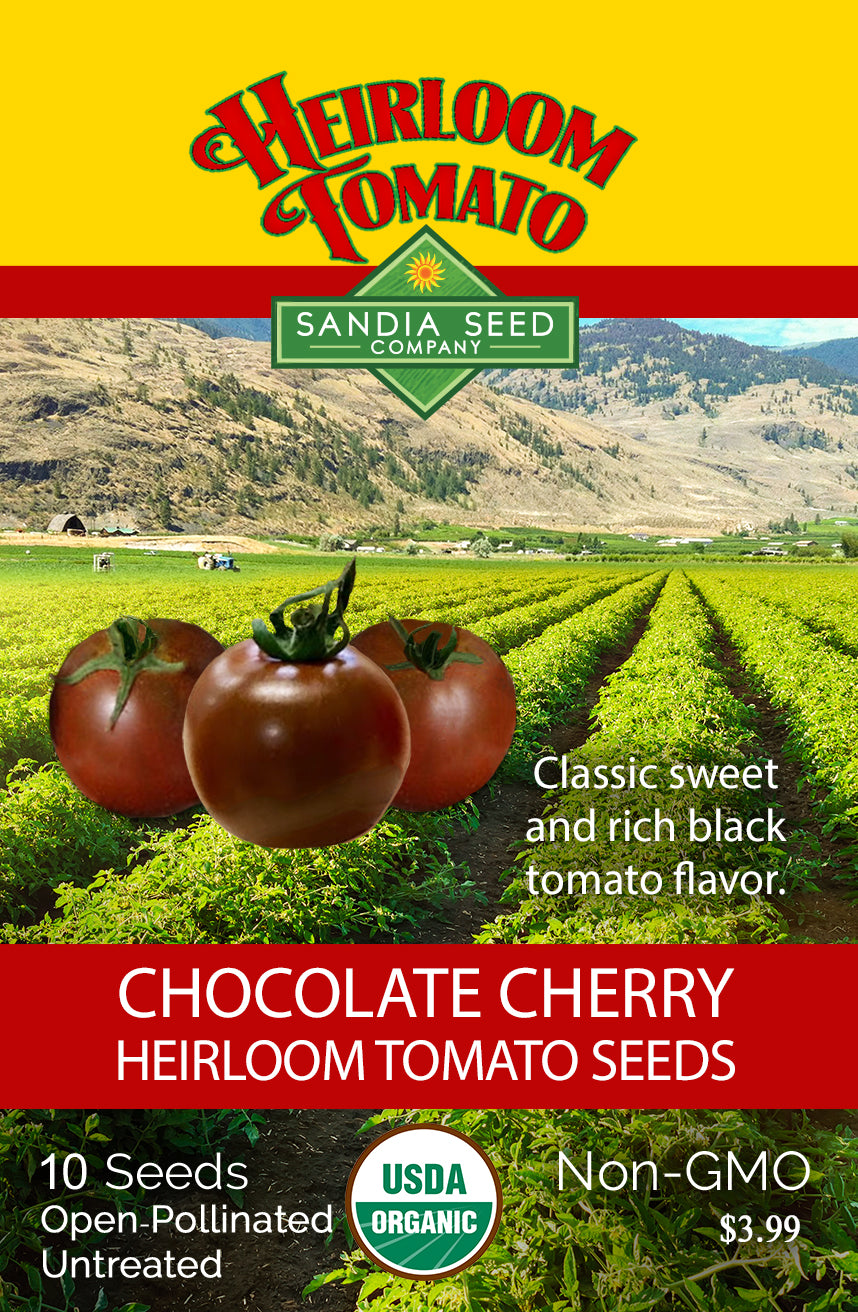 Early Tomato Varieties from SandiaSeed.com: Chocolate Cherry Heirloom Tomato Seeds