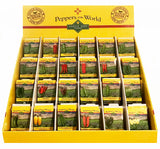 Wholesale Popular Peppers Assortment - 24 Pepper Varieties - 144 packets (fills counter-top display) - Sandia Seed Company