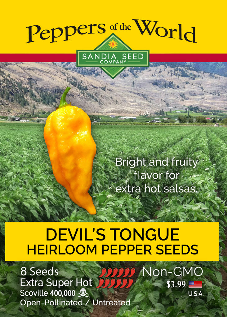 Devil's Tongue Pepper Seeds - Sandia Seed Company
