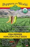 Fish Pepper Seeds ORG - Sandia Seed Company