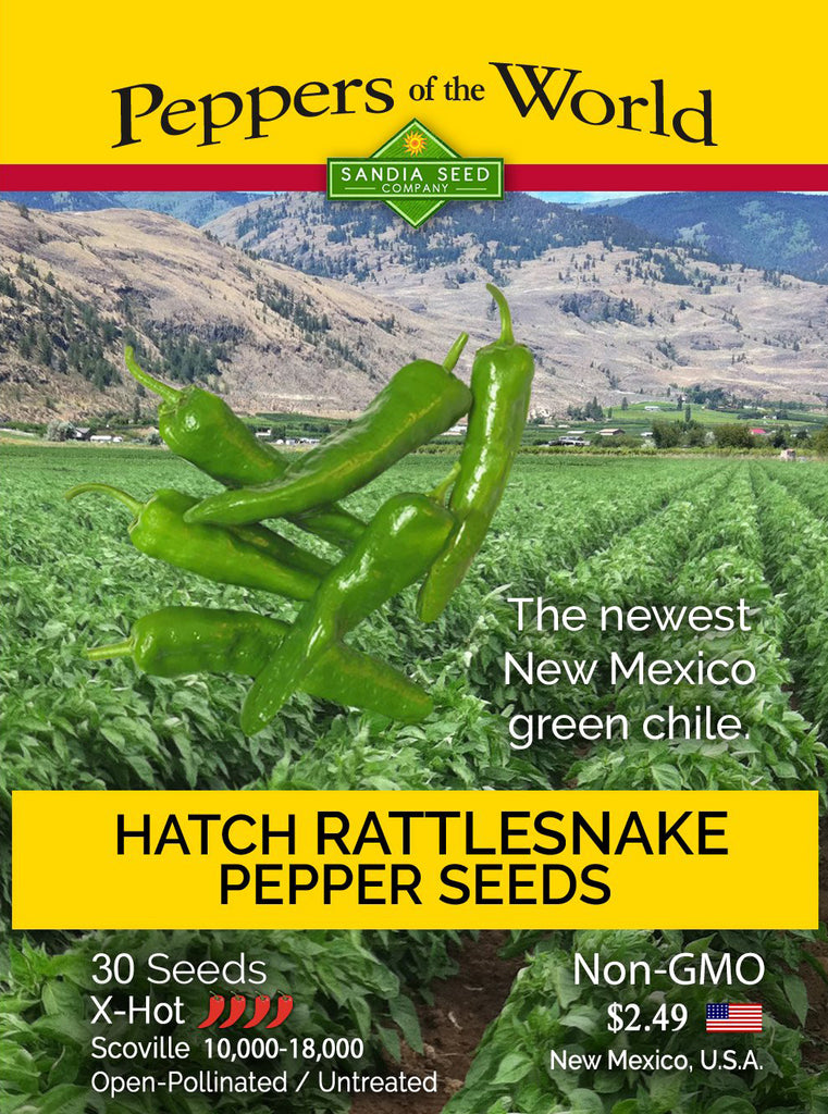Hatch Green Rattlesnake X-Hot Chile Seeds - Sandia Seed Company
