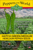 Hatch Green Medium - Big Jim - 1 oz. Seeds - Bulk
