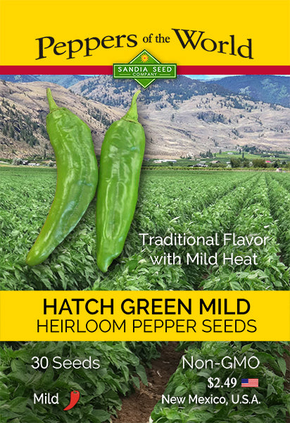 Hatch Green Mild - NM 6-4 - 2 oz. Seeds - BULK - Sandia Seed Company