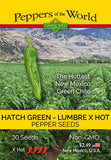 Hatch Green X-Hot Lumbre Chile Seeds - Sandia Seed Company