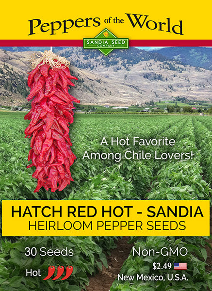 Hatch Red Hot - Sandia Hot - 1/2 oz. Seeds - BULK - Sandia Seed Company