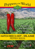 Hatch Red X Hot - Ms. Junie Chile Seeds - Sandia Seed Company