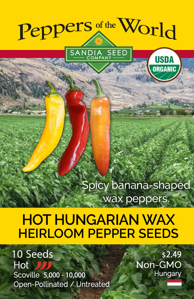 Hot Hungarian Yellow Wax Seeds ORG - Sandia Seed Company