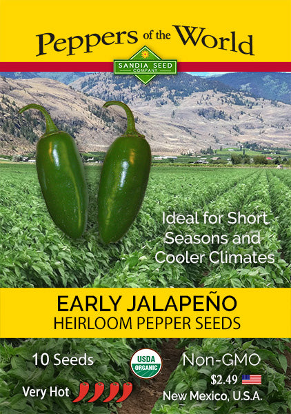 Earliest Peppers - Early Jalapeno Seeds from Sandia Seed