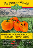 Manzano / Orange Rocoto - Heirloom Pepper Seeds - Sandia Seed Company
