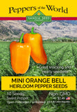 Lunchbox Orange Bell Sweet Pepper Seeds - Sandia Seed Company