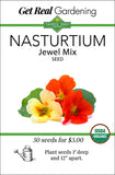 Nasturtium - Jewel Mix Seeds - Organic