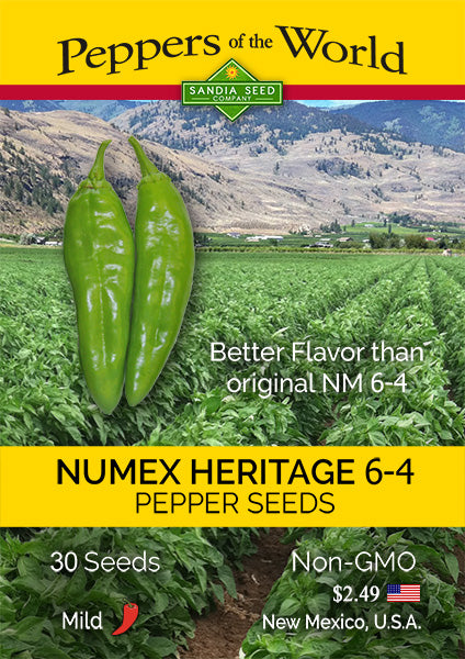 Mild Green Chile Seeds - NuMex Heritage 6-4 -