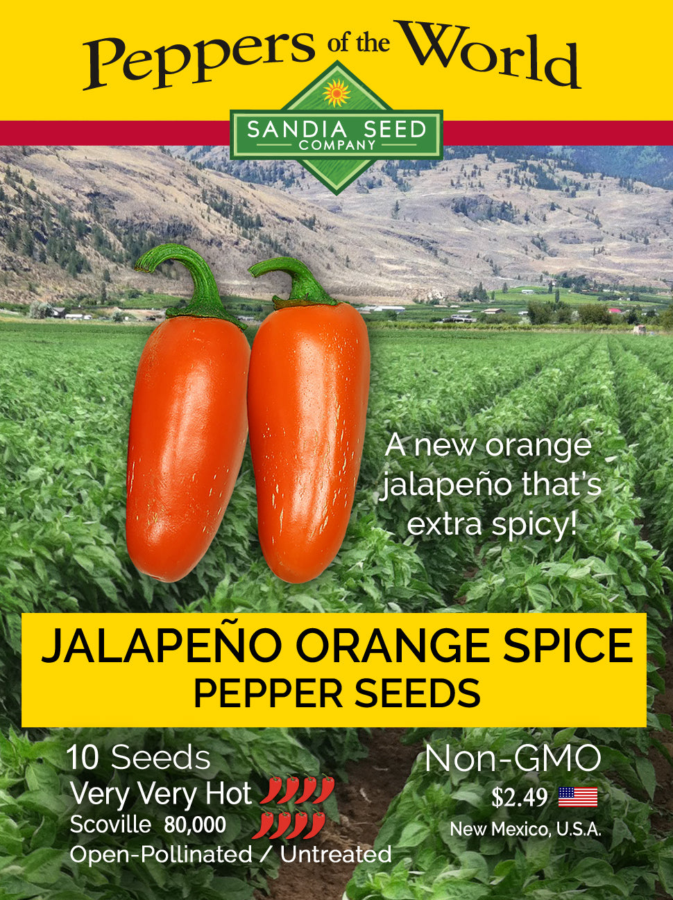 Orange Jalapeno Seeds