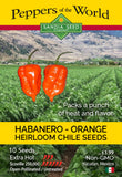 Habanero Orange - Seeds - Sandia Seed Company