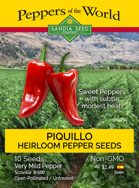 Rare Pepper Seeds - Piquillo Pepper Seeds