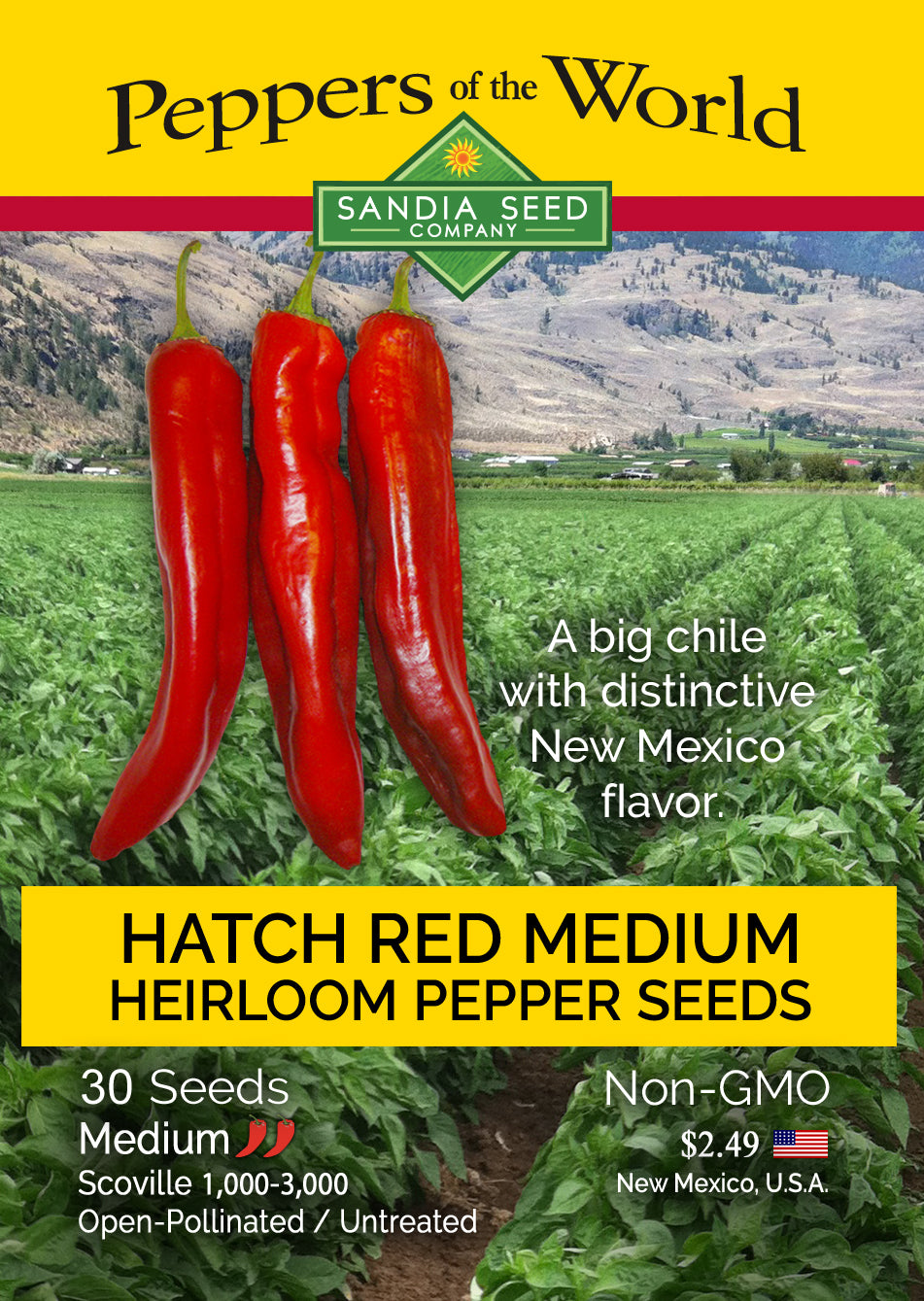 Mild Chile Seeds - Red Hatch Chile