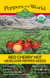 Red Cherry Hot - Heirloom Pepper Seeds ORG