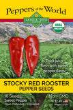 Stocky Red Rooster Seeds ORG
