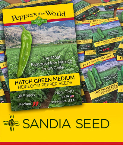 Hatch Red Hot - Sandia Hot - 1/2 oz. Seeds - BULK