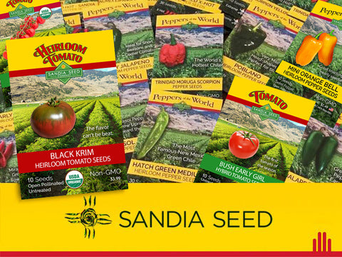 Wholesale Southwest / Mexico Assortment - 24 Pepper Varieties = 144 packets (fills counter-display)