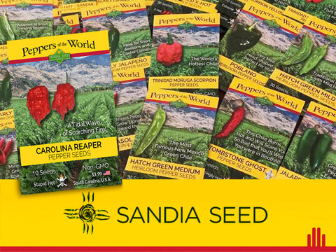 Southwest and Mexico Seed Assortment Wholesale - 24  Pepper Varieties - 144 packets