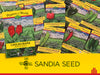 Wholesale Popular Pepper Assortment - 45 Pepper Varieties - 270 packets (fills floor display) - Sandia Seed Company