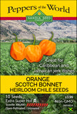 Scotch Bonnet Orange Pepper Seeds