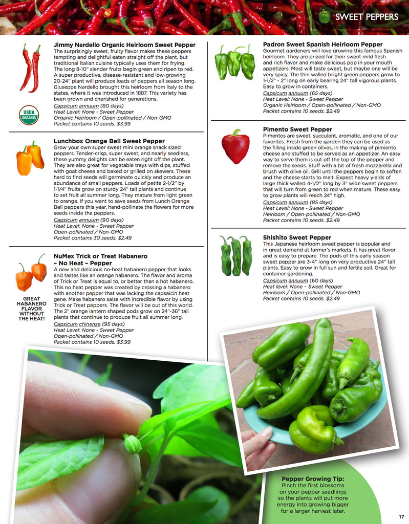 Seed Catalog - Pepper Seeds