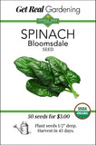 Spinach - Bloomsdale Seeds - Organic