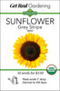Sunflower - Grey Stripe Seeds - Organic