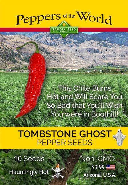 Tombstone Ghost Pepper 100 Seeds - Bulk - Sandia Seed Company