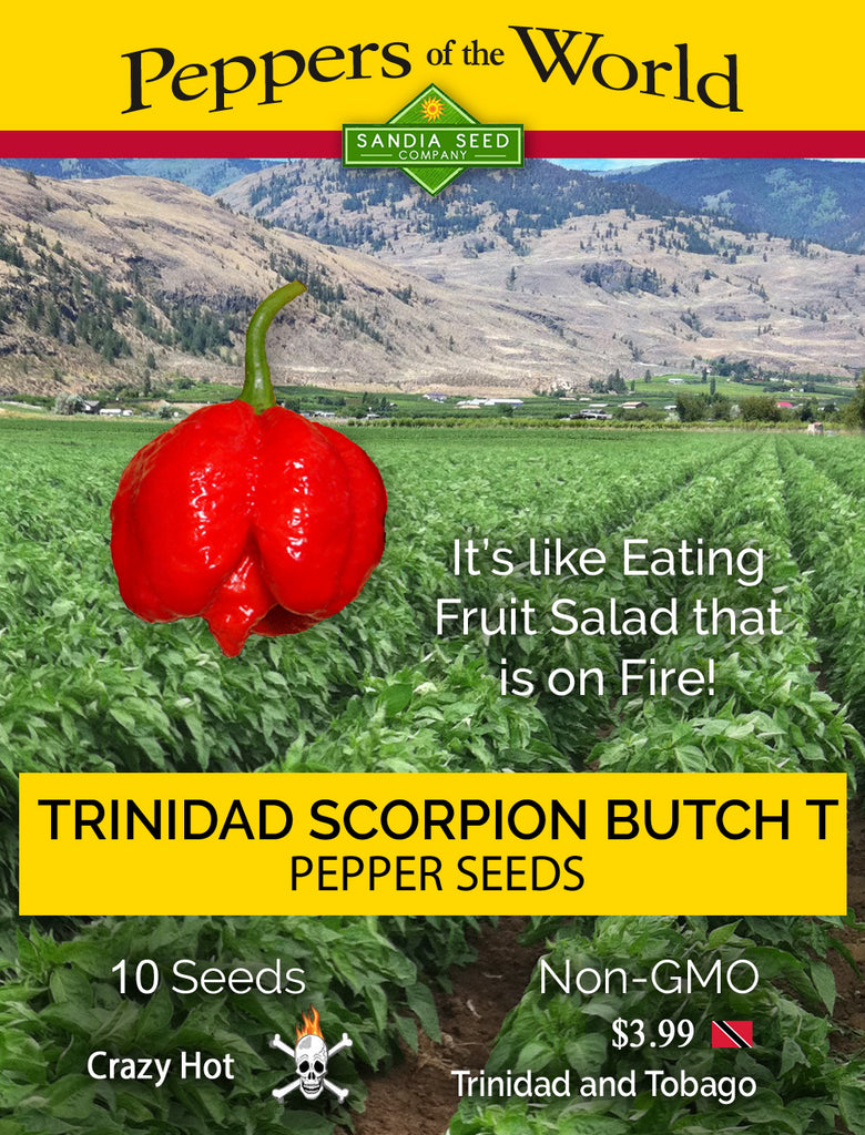 Trinidad Scorpion Butch T Pepper Seeds - Sandia Seed Company