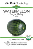 Watermelon - Sugar Baby Seeds - Organic