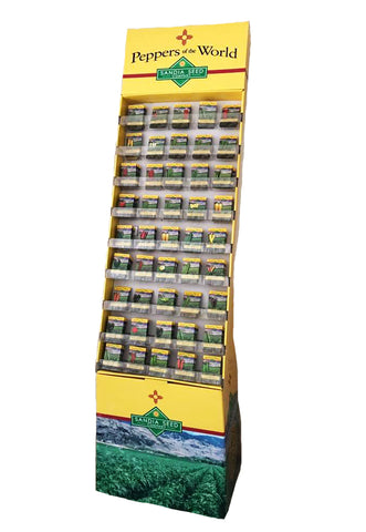 Seed Packet Counter-Top Display - Bright and Sturdy - 24 pockets - Empty