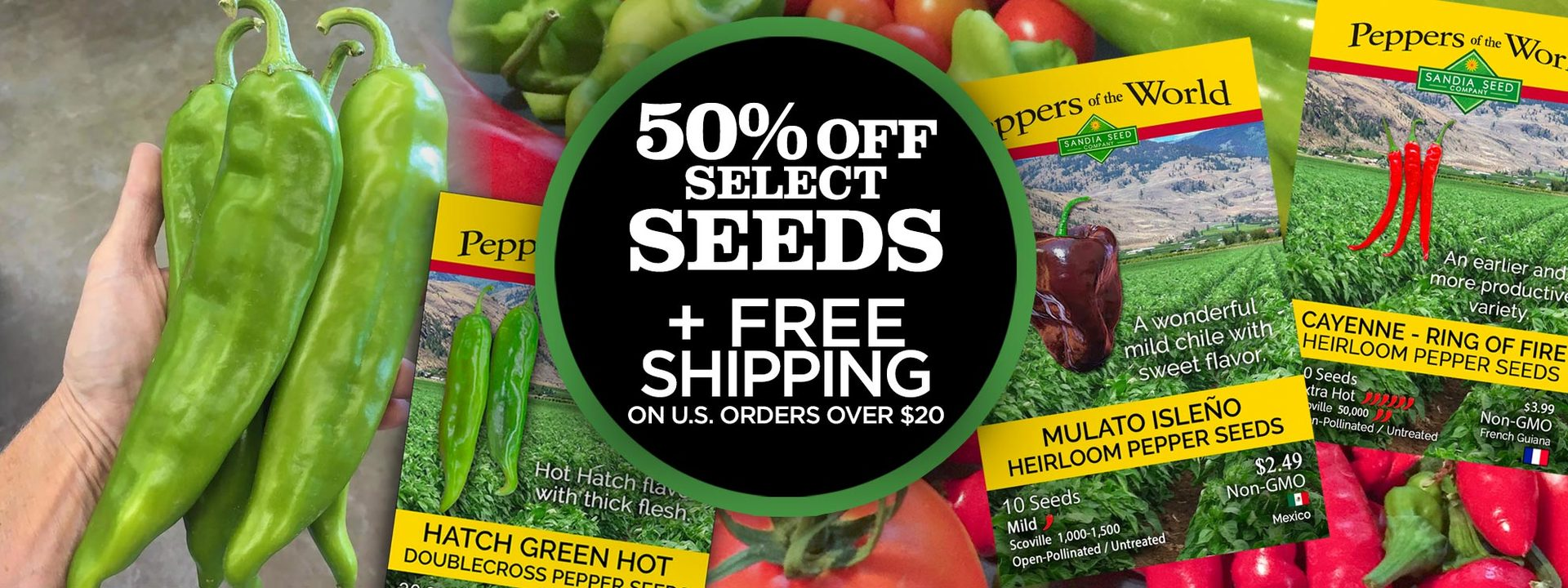 Chefs Pepper Seeds 3-Pack
