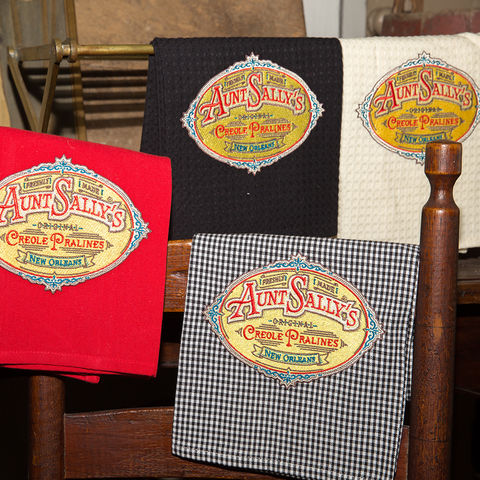 Aunt Sally's Logo Tea Towels