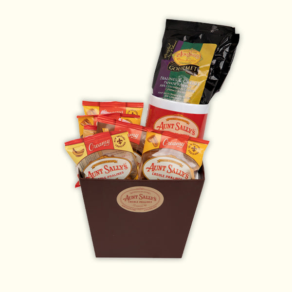 Coffee Break Gift Basket - Aunt Sally's Pralines