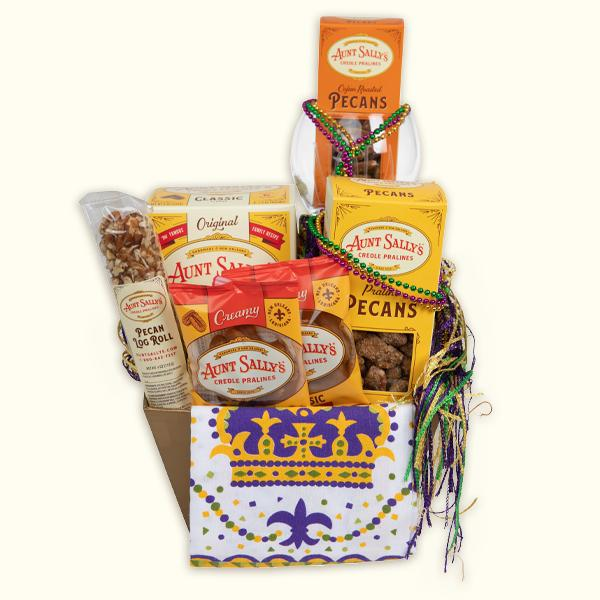 Creole Crown Gift Basket - Aunt Sally's Pralines