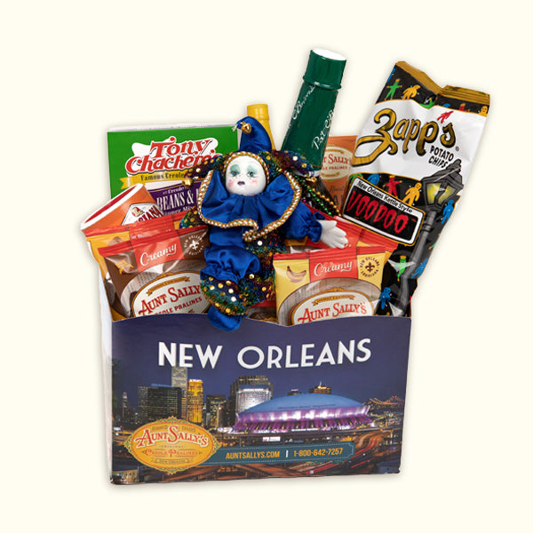 aunt sallys gift basket new orleans in a box