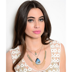 Chain And Stone Necklace